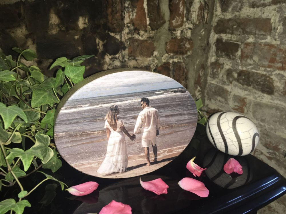 Wooden Photo Plaque, Oval